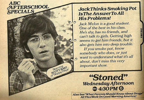 "Scott Baio stars in the ABC Afterschool Special, ""Stoned"""