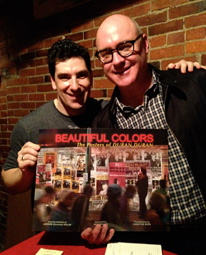 "Andrew Golub at a ""Beauiful Colors"" book signing"