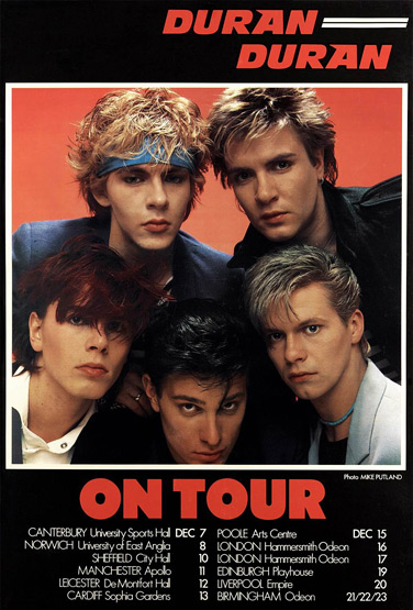 "Duran Duran poster featured in Andrew Golub's ""Beautiful Colors"" book"