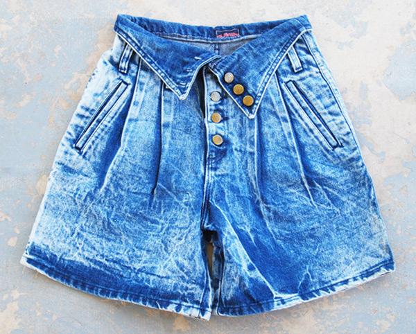 Fold Over Jean Shorts