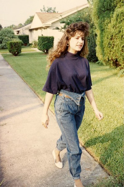 Fashionable And Folded Fold Over Jeans In The 80s Like