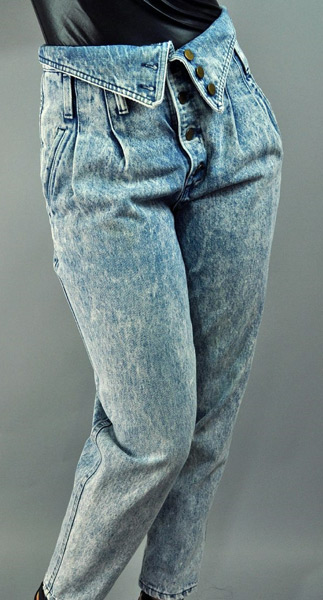 80s Fold Over Jeans