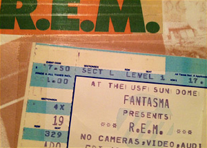 REM concert ticket stub