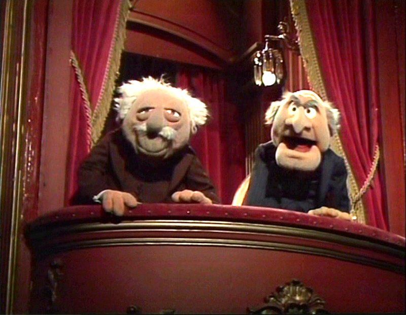 Statler and Waldorf from The Muppet Show