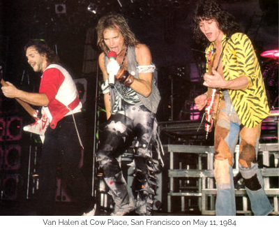 Van Halen at Cow Place, San Francisco on May 11, 1984