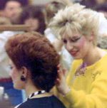 80s hair dressing