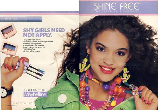 Maybelline Shine Free print ad