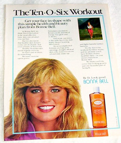 Bonne Bell print ad for Ten-O-Six Lotion from 1983 (Photo credit: veritas104)