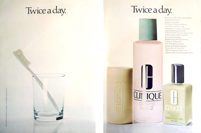 Clinique print ad from 1981 (Photo credit: chudonba)