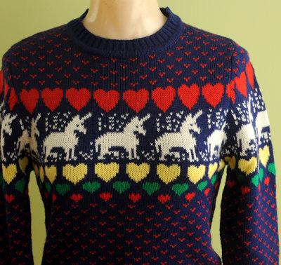 Fair Isle Sweaters: Unicorns and Hearts