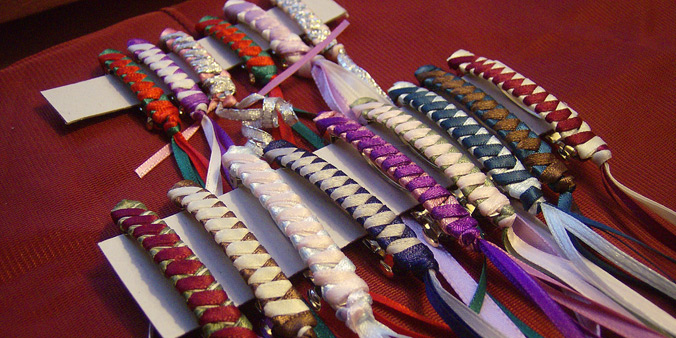 Braided ribbon barrettes by Victoria Arts & Crafts