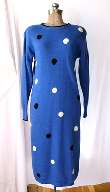 Polka dotted sweater dress (photo credit: PomegranateSeed)