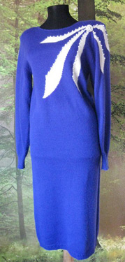 Soft angor sweater dress with bow design and pearls (photo credit: WonderGroveVintage)