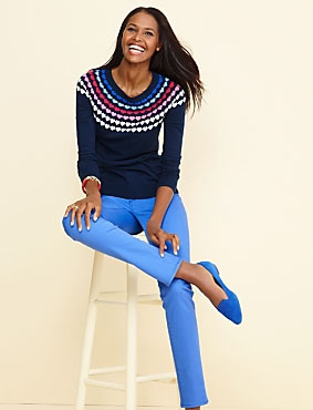 Talbots' 2015 version of the super popular fair isle sweater trend of the early 80s.