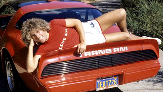 Sammy Hagar with a Pontiac Firebird Trans Am