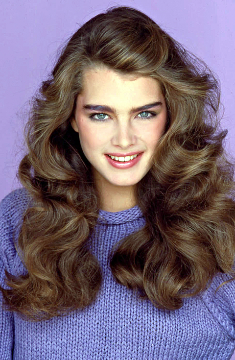 Brooke Shields with her perfect 80s bushy brows