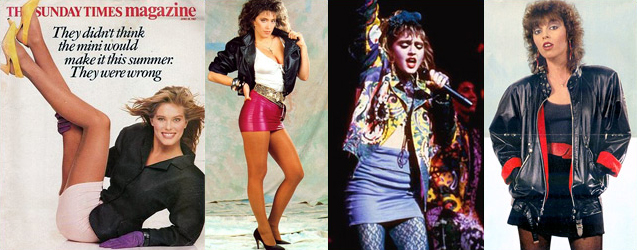 80s Fashion Men Vs Women s Mini Skirts