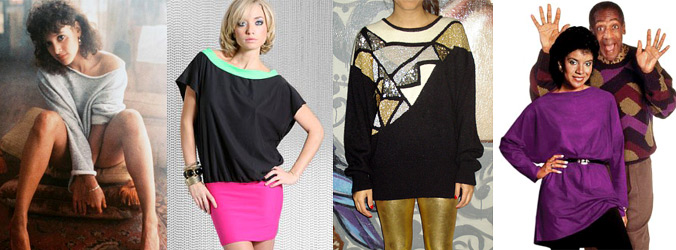 80s Fashion Trends Women s Oversized Tops