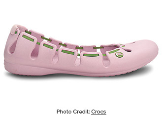 Jelly shoes by Crocs