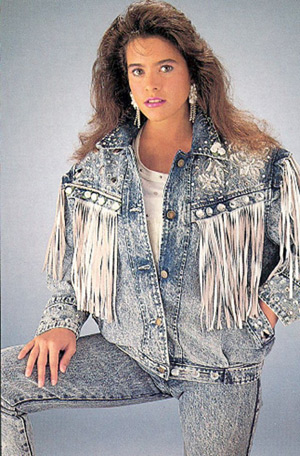 Late 80s Fashion s Acid Washed Jean Jacket