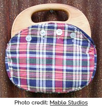 Plaid bermuda bag (Photo credit: Mable Studios)