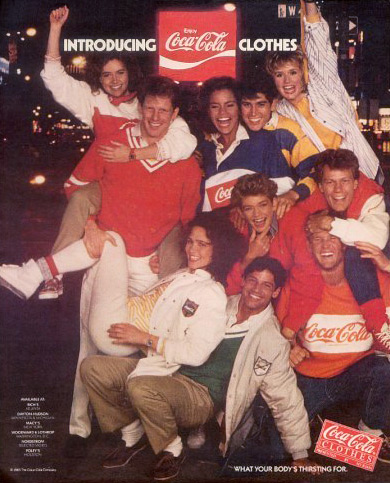 Coca-Cola Print Ad from the 80s featuring rugby style shirts (photo credit: 237)