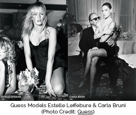 Guess Models Estelle Leffebure & Carla Bruni (Photo Credit: Guess)