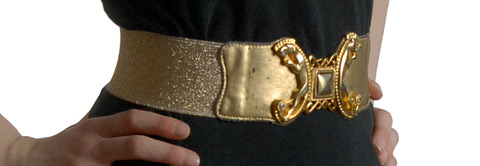 Gold elastic belt (photo credit: Bethlesvintage)