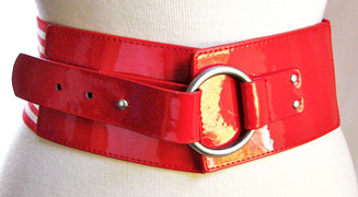Red vinyl elastic belt (photo credit: HulaGirl1922)