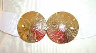 Sand dollar elastic belt (photo credit: I Love Vintagebagz)