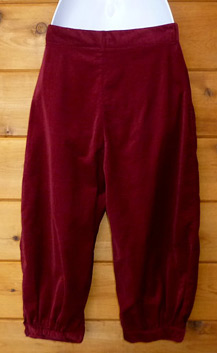 Berry colored corduroy knickers (photo credit: Black Rock Vintage)