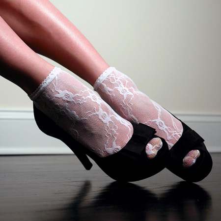 Lacy ankle socks