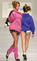 80s leg warmers make a comeback on the 2005 runway