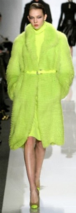 Michael Kors featured this neon green ensemble for his Fall 2009