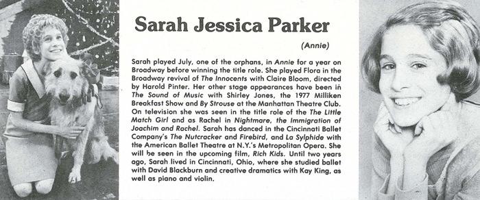 Sarah Jessica Parker as Annie
