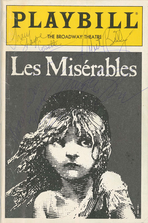 Signed Les Misérables program