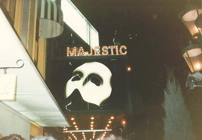 Phantom of the Opera on the Majestic Marquee