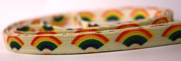 Rainbow shoelaces (photo credit: Sunfunnels)