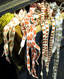 Patterned shoelaces from the 80s