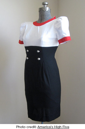 Puffed sleeved sailor dress (photo credit: America's High Five)