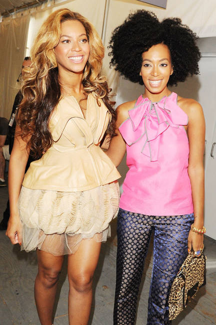 Sisters Beyonce & Solange Knowles are no strangers to big hair (photo credit: Getty Images)