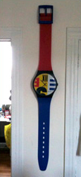Swatch watch wall clock