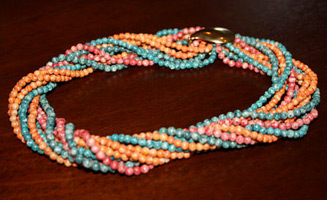 Twist A Beads: orange, teal & pink (photo credit: Zemkoofies)