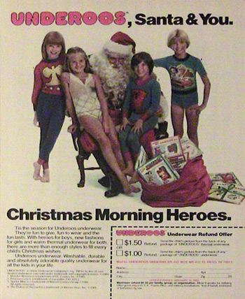 Underoos Christmas print ad (Photo credit: unclecheesy)
