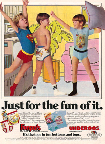 "Underoos ""Just for the fun of it!"" print ad (Photo credit: Greg Koenig)"
