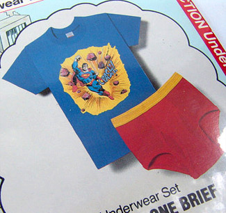 Package of Superman Underoos - Close-up (Photo credit: Photo credit: The Rusty Chicken)