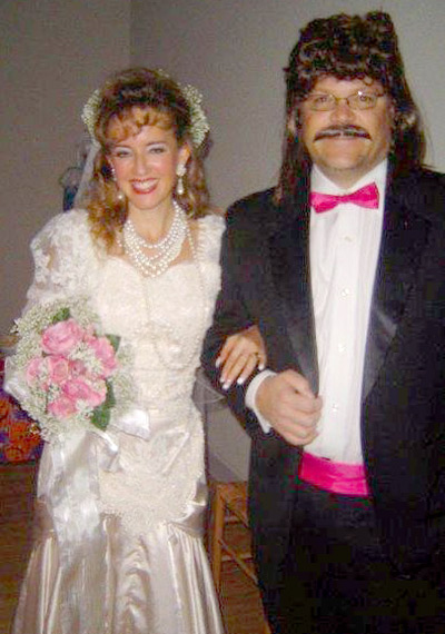 80s Bride and Groom costume idea