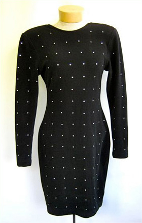 BeDazzled black stretch dress
