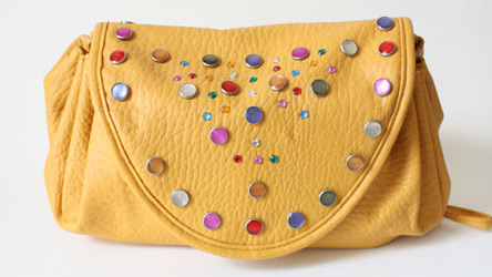 BeDazzled mustard purse (photo credit: Thread Echoes)