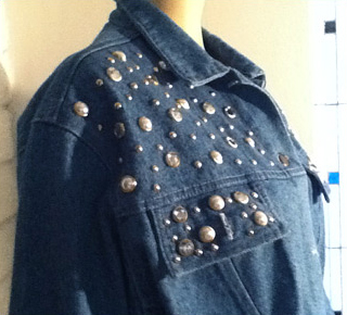 BeDazzled cropped jean jacket (photo credit: Quality Not Quantity)